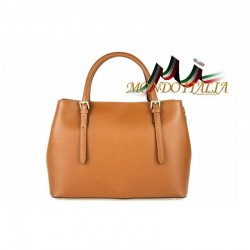 Talianska kožená kabelka 4300 koňak MADE IN ITALY 4300