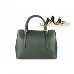 Talianska kožená kabelka 4300 zelená MADE IN ITALY 4300