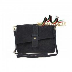 Talianska kožená kabelka 442 čierna MADE IN ITALY 442