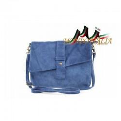 Talianska kožená kabelka 442 jeans MADE IN ITALY 442