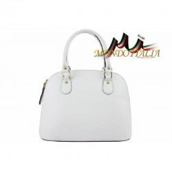 Talianska kožená kabelka 444 biela MADE IN ITALY 444