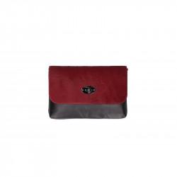 Talianska kožená kabelka 5078 bordová, bordová