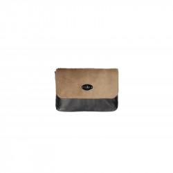 Talianska kožená kabelka 5078 šedohnedá, šedohnedá