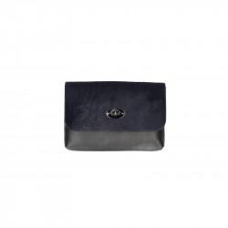 Talianska kožená kabelka 5078 tmavomodrá, modrá