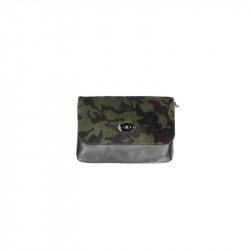 Talianska kožená kabelka 5078 vojenská zelená, zelená