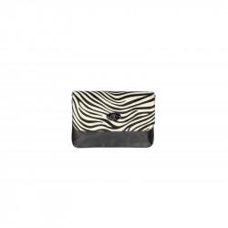 Talianska kožená kabelka 5078 zebra, čierna