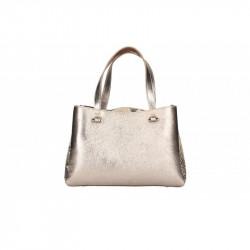 Talianska kožená kabelka 5081 bronzová MADE IN ITALY, bronzová