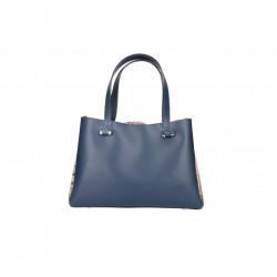 Talianska kožená kabelka 5081 modrá MADE IN ITALY, modrá