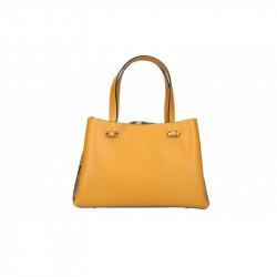 Talianska kožená kabelka 5081 okrová MADE IN ITALY, okrová