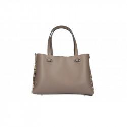 Talianska kožená kabelka 5081 tmavá šedohnedá MADE IN ITALY, šedohnedá