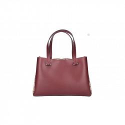 Talianska kožená kabelka 5081bordová MADE IN ITALY, bordová