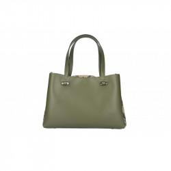 Talianska kožená kabelka 5081vojenska zelená MADE IN