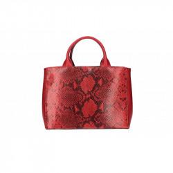Talianska kožená kabelka 5087 červená MADE IN ITALY, červená