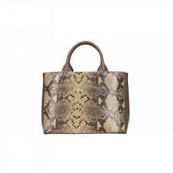 Talianska kožená kabelka 5087 šedohnedá MADE IN ITALY,