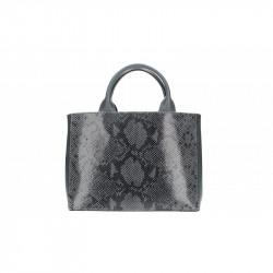 Talianska kožená kabelka 5087 tmavošedá MADE IN ITALY, šedá