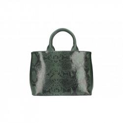 Talianska kožená kabelka 5087 tmavozelená MADE IN ITALY,