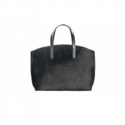 Talianska kožená kabelka 5088 čierna MADE IN ITALY, čierna