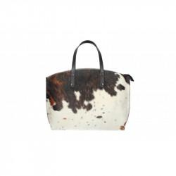 Talianska kožená kabelka 5088 hnedá + béžová MADE IN ITALY, hnedá