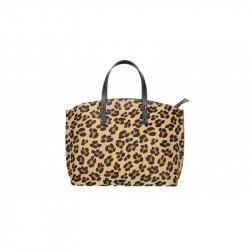 Talianska kožená kabelka 5088 leopard MADE IN ITALY, hnedá