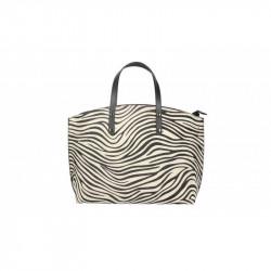 Talianska kožená kabelka 5088 zebra MADE IN ITALY, čierna