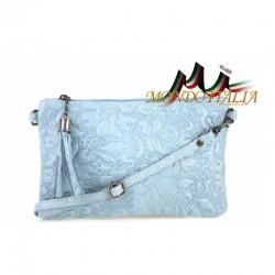 Talianska kožená kabelka 51 nebesky modrá MADE IN ITALY 51