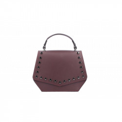 Talianska kožená kabelka 5101 bordová MADE IN ITALY, bordová