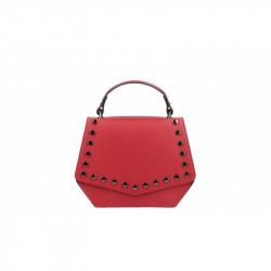 Talianska kožená kabelka 5101 červená MADE IN ITALY, červená