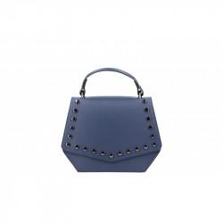 Talianska kožená kabelka 5101 modrá MADE IN ITALY, modrá