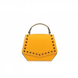 Talianska kožená kabelka 5101 okrová MADE IN ITALY, okrová