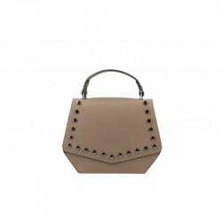 Talianska kožená kabelka 5101 tmavá šedohnedá MADE IN ITALY, šedohnedá