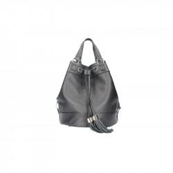 Talianska kožená kabelka 5102 čierna MADE IN ITALY, čierna