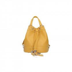 Talianska kožená kabelka 5102 okrová MADE IN ITALY, okrová
