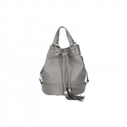Talianska kožená kabelka 5102 tmavošedá MADE IN ITALY, šedá