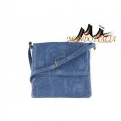 TALIANSKA KOŽENÁ KABELKA 656 jeans MADE IN ITALY