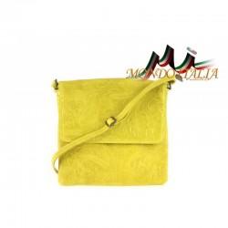 TALIANSKA KOŽENÁ KABELKA 656 žltá MADE IN ITALY