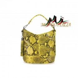 Talianska kožená kabelka 659 žltá MADE IN ITALY