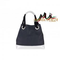 Talianska kožená kabelka 664 modrá MADE IN ITALY