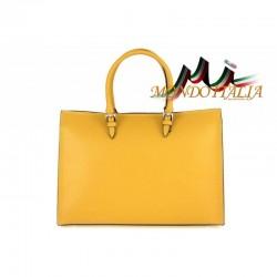 Talianska kožená kabelka 667 okrová MADE IN ITALY