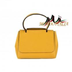 Talianska kožená kabelka 670 okrová MADE IN ITALY