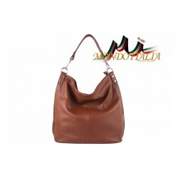 Talianska kožená kabelka 680 hnedá MADE IN ITALY