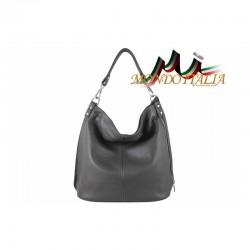 Talianska kožená kabelka 680 tmavošedá MADE IN ITALY