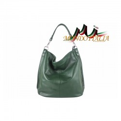 Talianska kožená kabelka 680 zelená MADE IN ITALY