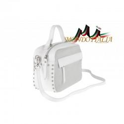 Talianska kožená kabelka 714 biela MADE IN ITALY