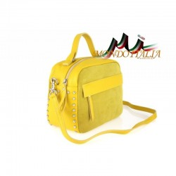 Talianska kožená kabelka 714 žltá MADE IN ITALY