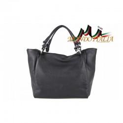 Talianska kožená kabelka 715 čierna MADE IN ITALY 917d8fe9da9