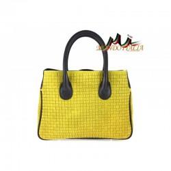 Talianska kožená kabelka 740 žltá MADE IN ITALY