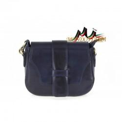 Talianska kožená kabelka 870 modrá MADE IN ITALY
