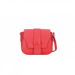 Talianska kožená kabelka 870A červená MADE IN ITALY, červená