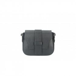 Talianska kožená kabelka 870A čierna MADE IN ITALY, čierna