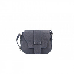 Talianska kožená kabelka 870A modrá MADE IN ITALY, modrá
